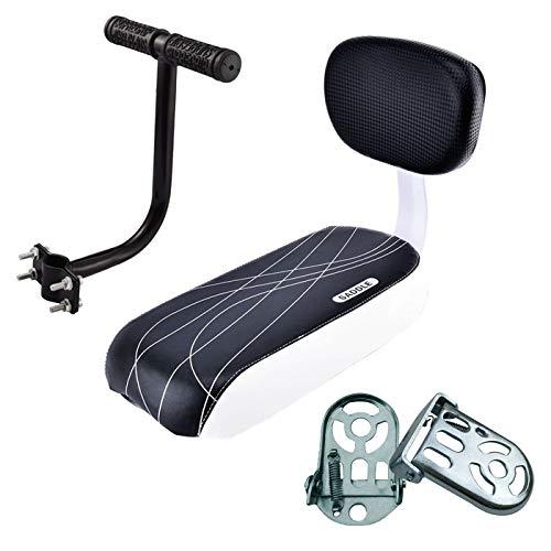 Raytheoner asiento trasero de la bicicleta del niño, cojín del asiento trasero para la bicicleta, juego del reposapiés del cojín del asiento trasero de la bicicleta de seguridad del niño