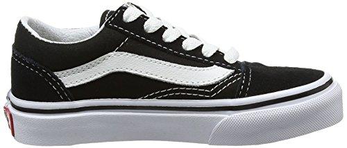 Vans Kids Old Skool Skate Shoe (1.5 M US, Black True White)