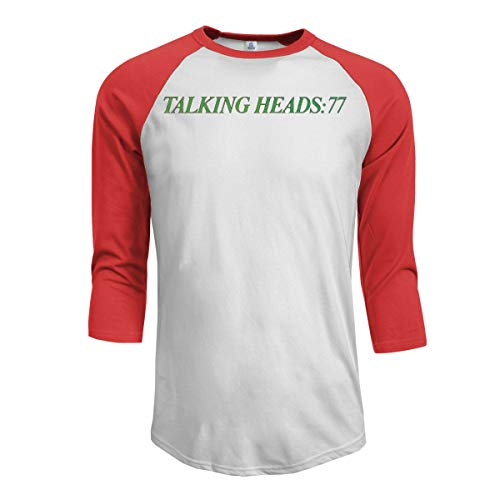 Talking Heads Talking Heads 77 T Shirt for Men Hip Hop Funny Tee Raglan Sleeve T-Shirt Baseball Top Shirtss Red XL