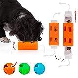 Edupet 06021AC Hundespielzeug, Dog'n'Roll, Intelligenzspielzeug für kleine Hunde, Leckerli-Spender, 10 cm, Orange