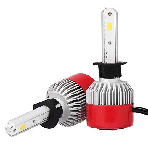 ZGMA 2pcs H1 Automatique Ampoules électriques 36W LED Intégrée 3600lm LED Lampe Frontale H1