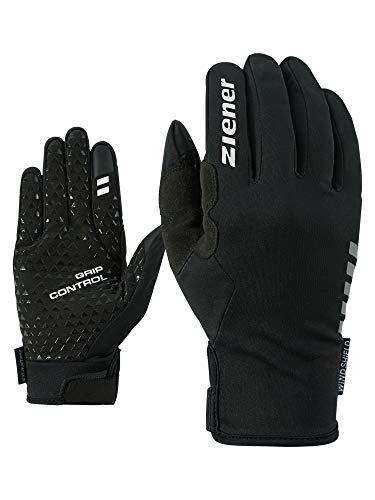 Ziener Erwachsene CORNELIS TOUCH long Fahrrad-, Mountainbike-, Radsport-handschuhe | Langfinger mit Touchfunktion - atmungsaktiv/winddicht/softshell, black, 9,5