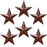 Western Star 4900 Custom Grilles - Barn Star - Metal Stars for Outside Texas Stars Art Rustic Vintage Western Country Home Farmhouse Wall Decor (5