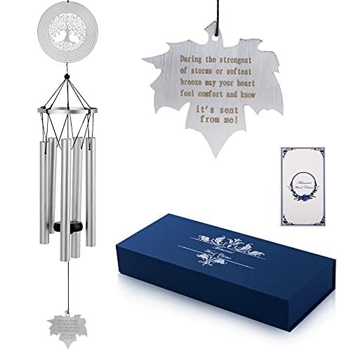 "Geegoods Memorial Wind Chimes ,29.5"" Large Sympathy Wind Chimes, Weatherproof Bereavement Gifts Wind Chimes, Bereavement Gifts, Condolence Gifts"