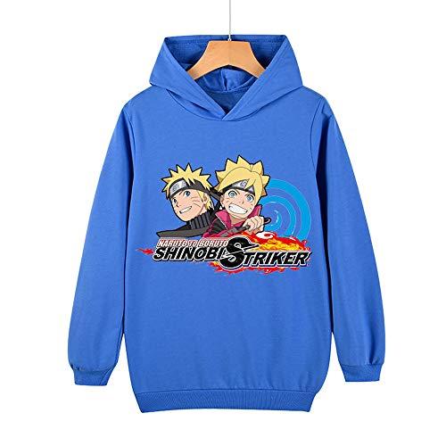 Proxiceen Sudadera unisex Anime Naruto con capucha para cosplay A8. 170 cm