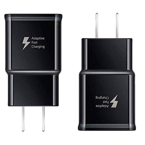 Adaptive Fast Charging Wall Charger Compatible Samsung Galaxy S9 S9 Plus S8 S8+ S10 S10e S7 S6, Note 5,Note 8, Note 9,LG G5 G6 G7 V20 V30 ThinQ Plus Quick Charge, Samsung Fast Wall Chargers (2 Pack)