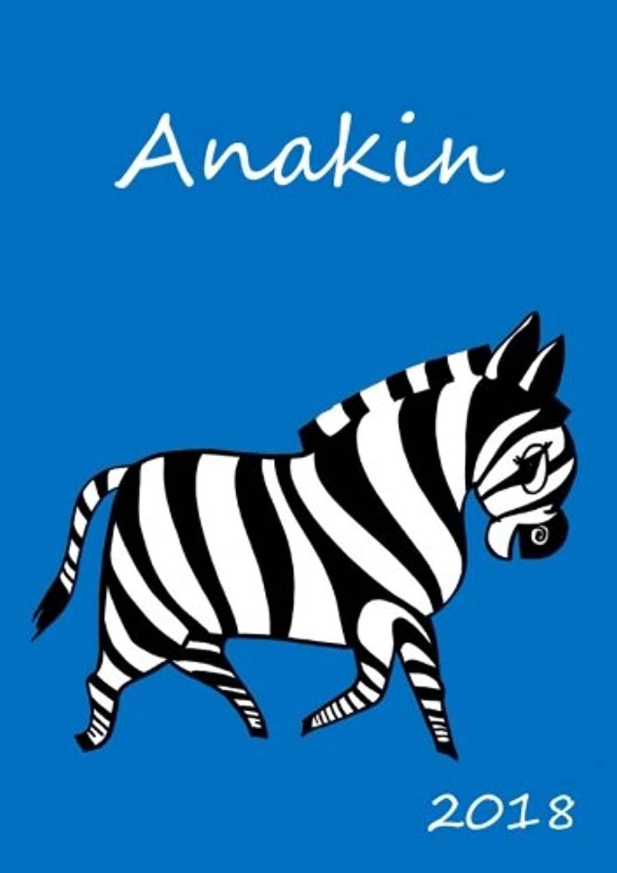 がっかりした無効にする廃止する2018: personalisierter Zebra-Kalender 2018 - Anakin - DIN A5 - eine Woche pro Doppelseite