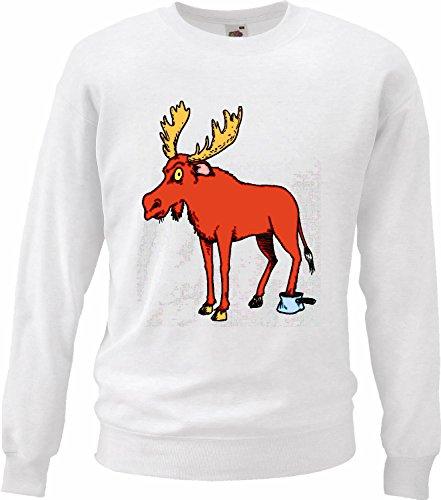 Sweatshirt sweater in de pan doorgestoken (gelijmd) eland cartoon plezier film cartoon mot