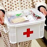 sharprepublic Klar 2 Schichten Gesundheit Pille Medizin Brust Verbandskasten Fall Aufbewahrungsbox