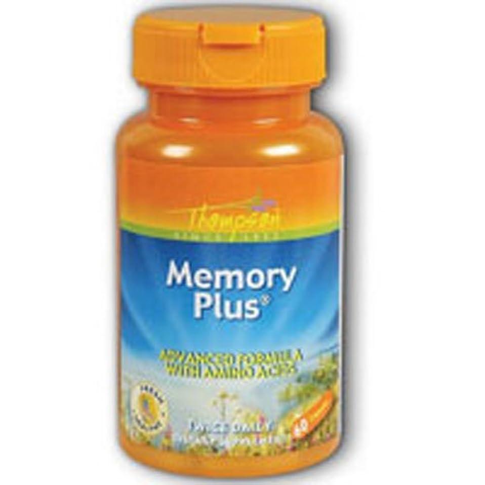 クラッチ製油所量で海外直送品 Thompson Nutritional Products Memory Plus, 60 caps