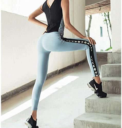 Pantalones de yoga de las mujeres s Medias deportivas de las mujeres s sin costuras de cintura alta de la cadera pantalones de melocotn corriendo fitness pantalones casuales de yoga - M_B