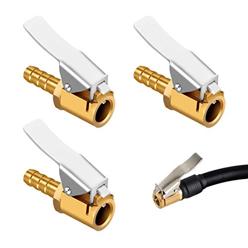 HONGECB 3 Piezas Boquillas Inflado Neumático Boquilla Inflador Abrazadera Válvula, Conector De...