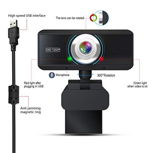720P HD computer camera, ingebouwde geluidsabsorberende microfoon, je kunt duidelijk het geluid te horen binnen 8 meter, live video chat ondersteuning TV-camera