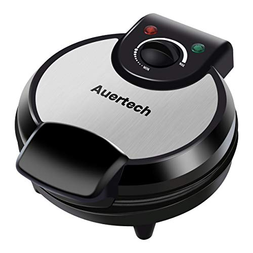 Auertech Waffle Maker 1000W 8quot Waffle Maker Machine with Adjustable Temperature Control NonStick Plates Indicator Lights Cool Touch Handle
