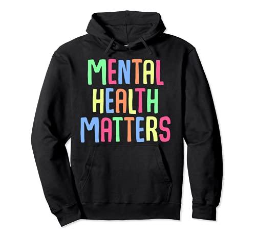 apoyo para la concienciación sobre depresión de salud mental Sudadera con Capucha