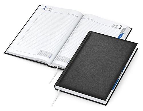 geiger notes - Manager Register -Buchkalender 2021 Premium-Cheftimer, DIN A5 Format mit Monats-Registerstanzung, 416 Seiten, je Tag 1 Seite