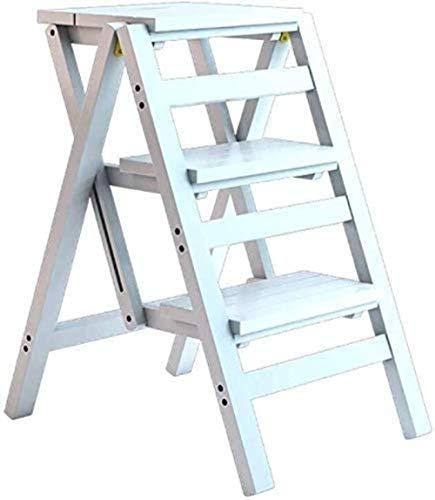 LTHDD Taburete de Paso Plegable bambú Creativo multifunción Escalera doméstica/Silla Alta/de Barra de Taburete/Mesa de Cama/Estante/Soporte de Flores, 2/3/4 Capas (tamaño: 4 Capas a) Ocasiones múl