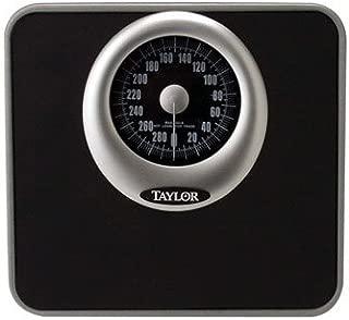 Taylor Analog Bath Scale 300 Lb. Capacity Solid Steel Base Black