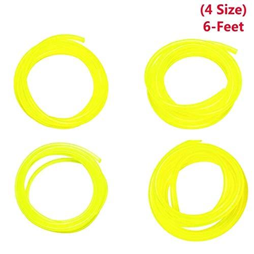 Simplelife 4 Size Benzine Brandstof Lijn Slangbuis Voor Gemeenschappelijke 2 Cyclus Kleine Motor & Kettingzaag 1 Set(4 Stuks) Geel