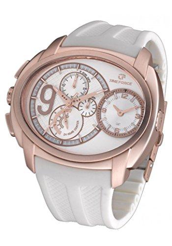 Time Force Cristiano Ronaldo TF3330M02Herren-Armbanduhr, Weiß