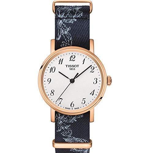 Tissot Reloj Analógico para Unisex Adultos de Cuarzo con Correa en Tela T1092103803200