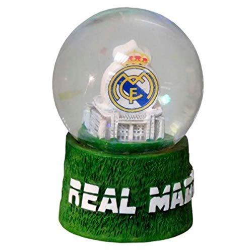 Real Madrid Schneekugel, mittelgroß, Kunstharz, Mehrfarbig