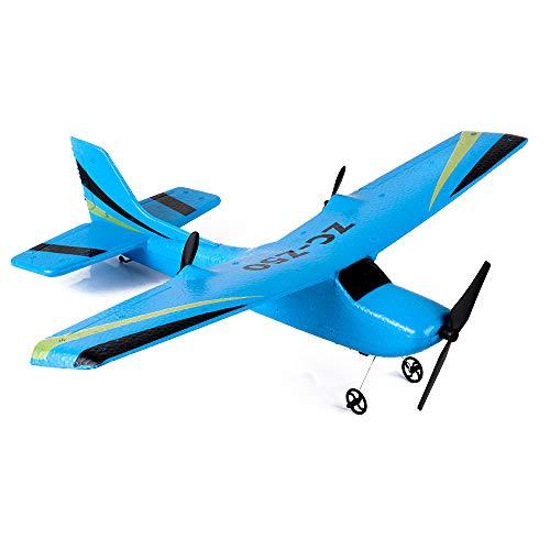 ZMH Parapente de telecontrol EPP ala Fija RC Parapente avión Control Remoto Aviones Modelo Juguetes Regalo para niños Regalo Chico Azul Amarillo,Blue