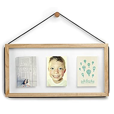 Umbra Corda 3-Opening Photo Display, 4 by 6-Inch Float Size, Natural