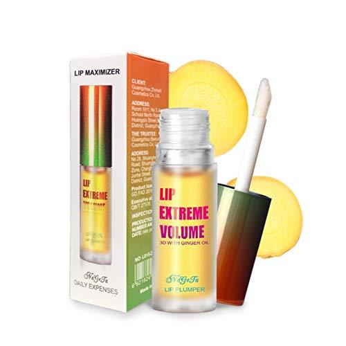 Allbestaye Lip Plumper Gloss Lippen Booster Vergrößerer Volume Volumizer mit Ginger Mint Lipgloss