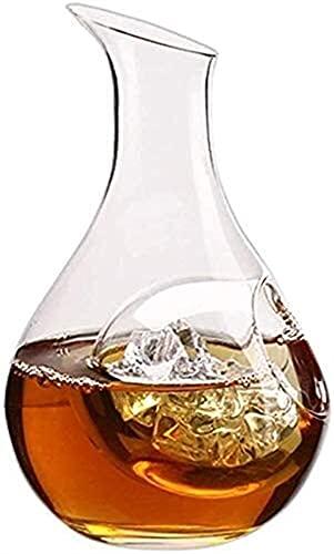 Casual Viernes Decantador De Vidrio 180ML / 250ML Dispensador Rápido Whisky Beer Liquor Bourbon Scotch Hogar Party Bar MUMUJIN (Size : 180ML)