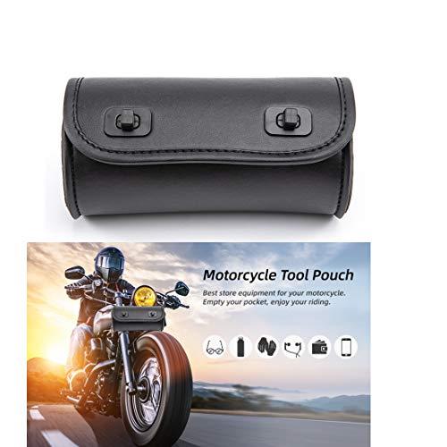 Bolsa de Horquilla de Motocicleta Bolsa de Herramientas de Manillar de Bicicleta de Cuero de PU Bolsa de Almacenamiento de Rollo de Barra Sissy - Pequeña (Color A)