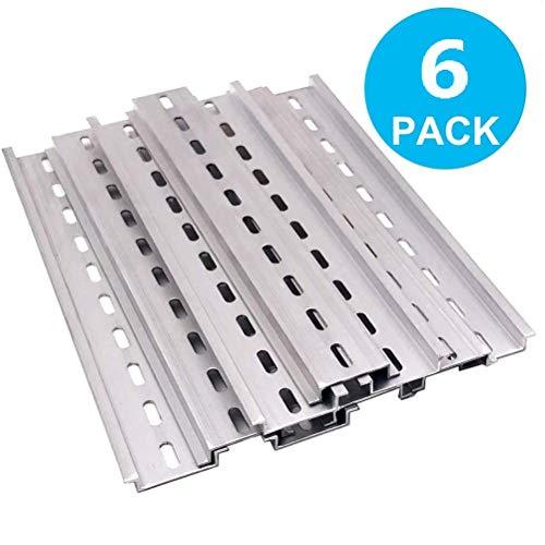 beihuazi® 6Stk montageschiene din hutschiene Hängeschiene Schrank für Verteilerschrank Schaltschrank einbau, 35mm breit, 7,5mm hoch, lang 200mm