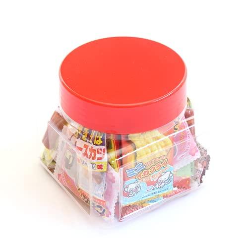 ちょっとプレゼントに・・・かわいい容器に入った駄菓子セット A【31コ入】