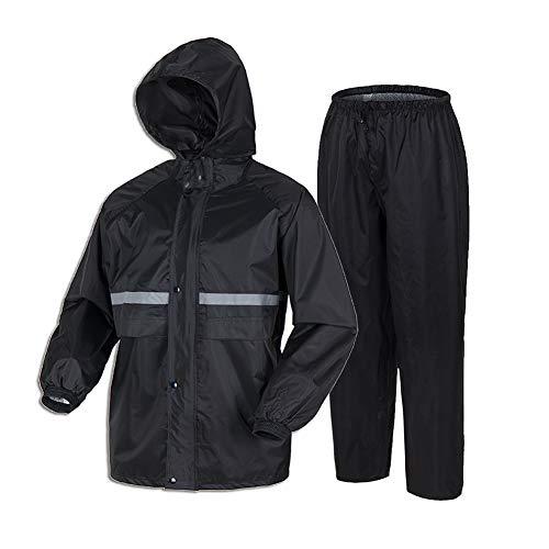 Liuhong Rain Coats for Men Lightweight Waterproof Rain Suit for Motorcycle Golf Fishing(Jacket&Pants) X-Large Navy
