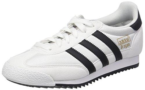 adidas Dragon OG, Chaussures de Gymnastique Homme, Blanc (Footwear White/Core Black/Gold Metallic 0), 36 2/3 EU