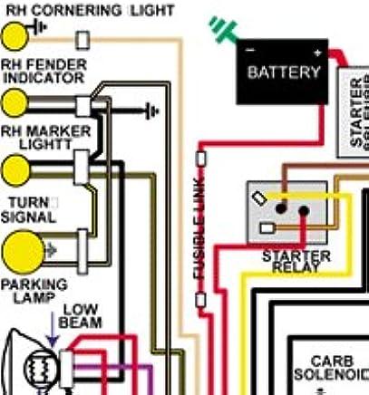 amazon com full color laminated wiring diagram fits 1972 72 1970 Camaro Wiring Diagram