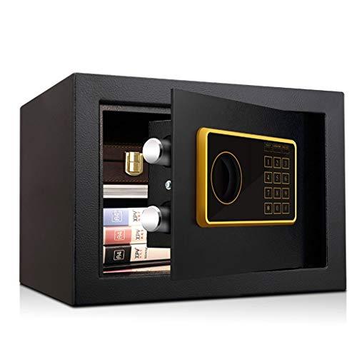 Safes & Kasten Safe Box digitale elektronische 1- tot 10-cijferige beveiligingscode-sleutel met externe partij Black Money Box 35 * 30 * 25cm 9-6