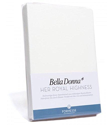 Bella Donna Jersey Spannbettlaken 1B Qualität 90/200 - 100/220cm  Farbe Weiß 1000