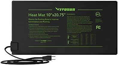 VIVOSUN 2 Pack Durable Waterproof Seedling Heat Mat Warm Hydroponic Heating Pad 10 x 20.75 Inch