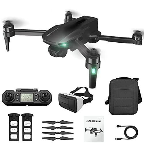 LICI M9 Collassabile Fotografia Aerea Drone 4K HD,5G WiFi GPS,Gimbal EIS a 3 Assi,Senza Spazzole RC Drone,25 Minuti di Volo,con 3D Display per Realtà Virtuale Montato sulla Testa e Valigetta