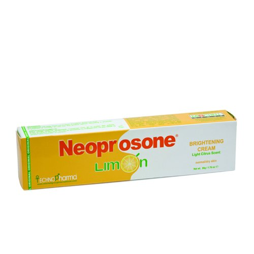 Neoprosone Limon Brightening Cream 50g - Formulated to Fade Dark Spots and Boost Skin Radiance, Citrus Scent
