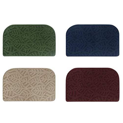 #N/V Alfombra de baño de goma antideslizante súper absorbente, lavable y duradera, estilo nórdico antideslizante, alfombra de goma, color rojo y marrón, 50 x 81 cm