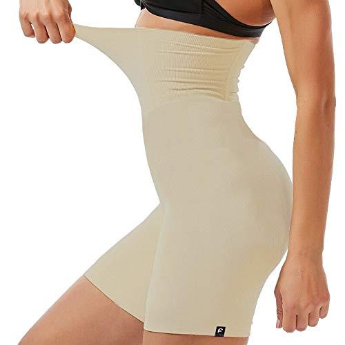 Shorts Cinta Modeladora Com Alta Compressão Redutor Cintura Creme G