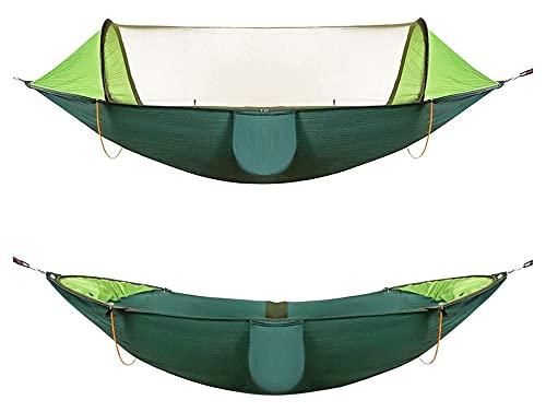 TNSYGSB Hamacas, Muebles de Camping de Apertura Rápida Mosquitero Multi-Escenas Aplicación Anti-Mosquitera Anti-Mosquitero Carga 150kg Cómodo columpio (Color: Verde)