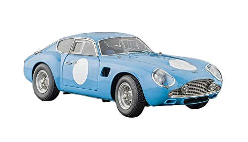 CMC-Classic Model Cars Aston Martin DB4 Zagato Vehicle, Blue 1:18 Scale Detailed Assembled Collectible Historic Antique Vehicle Replica