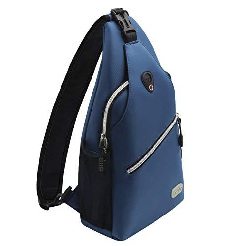 MOSISO Sling Backpack, Multipurpose Crossbody Shoulder Bag Travel Hiking Daypack, Light Teal