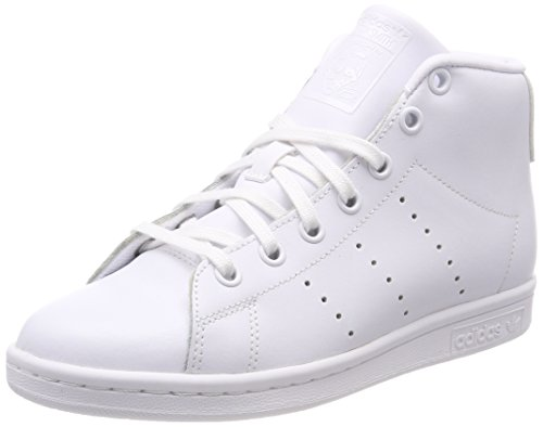 adidas Unisex-Kinder Stan Smith Mid Hohe Sneaker, Elfenbein (FTWR White/FTWR White/FTWR White), 38 EU