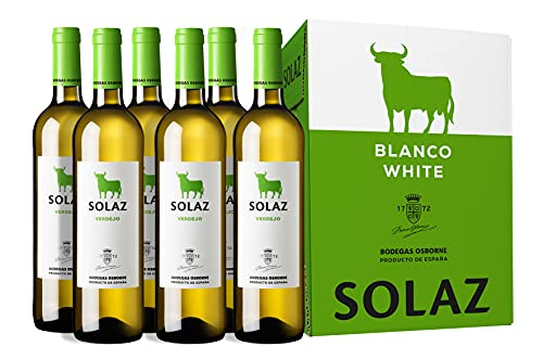Vino Solaz Blanco 100% Verdejo - 6 botellas de 75 cl- Total: 450 cl