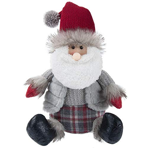 Equuleus 19-Inch Stuffed Santa Claus Plush Doll for Family, Kids, Holiday Home Decor - Christmas Ornaments Edition