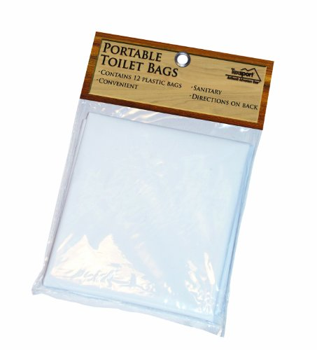 Texsport Disposable Urine, Fecal, Waste Bags for Portable Toilets